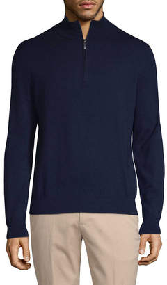 Brooks Brothers Ribbed Zip Sweater