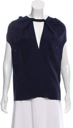 Derek Lam Silk Cap-Sleeve Blouse