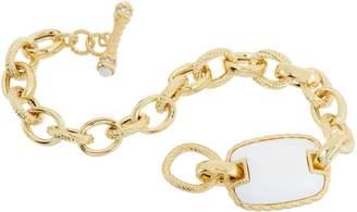 Judith Ripka Verona 14K Clad Gemstone Toggle Bracelet