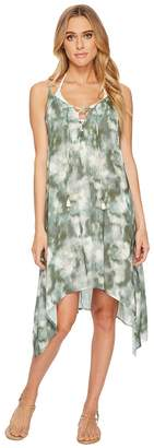 Lucky Brand Indian Summer Lace-Up Swing Dress Cover-Up Women's Swimwear