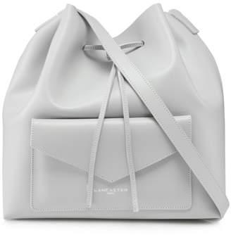 Lancaster Light Grey Leather Duffle Bag