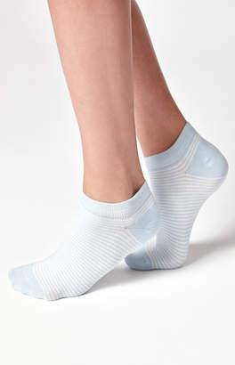 John Galt Striped Ankle Socks