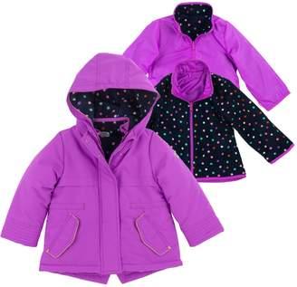 61987ab652c Osh Kosh Oshkosh Bgosh Girls 4-8 4-in-1 Heavyweight Systems Jacket