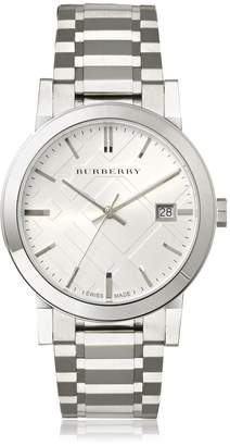 Burberry Men's BU9000 Large Check Stainless Steel Bracelet Dial Watch