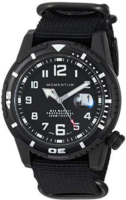 Momentum Men's Sports Watch | M50 Nylon Dive Watch by | Stainless Steel Watches for Men | Sapphire Crystal Analog Watch with Japanese Movement | Water Resistant (500M/1650FT) Classic Watch - Black / 1M-DV54B7B