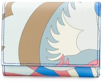 Emilio Pucci Blue Acapulco Print Tri-fold Wallet
