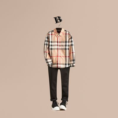 Burberry Check Cotton Button-down Shirt