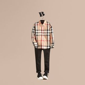 Burberry Check Cotton Button-down Shirt $150 thestylecure.com