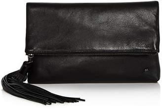 Halston Christie Leather Foldover Clutch