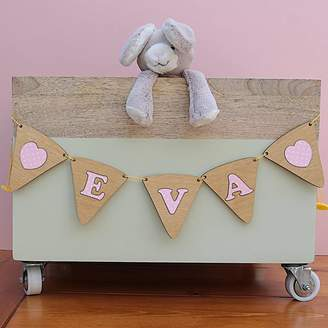 Neltempo Personalised Girls Wooden Bunting