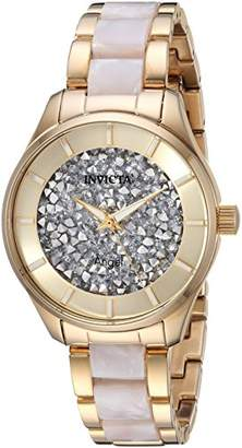 Invicta Women's 'Angel' Quartz Gold-Tone and Stainless Steel Casual Watch