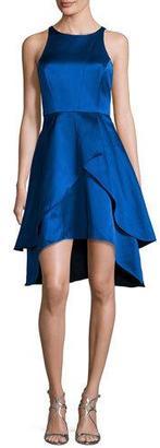 Shoshanna Sleeveless Tiered Satin Cocktail Dress, Cobalt $460 thestylecure.com