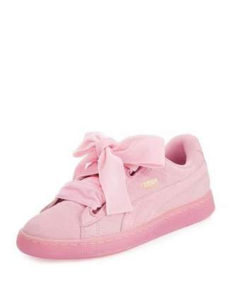 Puma Suede Heart Reset Sneaker, Pink $80 thestylecure.com