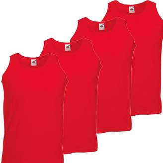 Fruit of the Loom RyteApparel Mens 4 Pack Athletic Vest