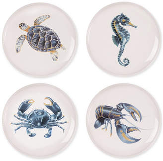 Fitz & Floyd Cape Coral Collection 4-Pc. Assorted Accent Plate Set
