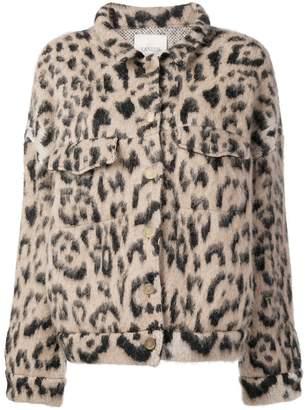 Laneus leopard short jacket