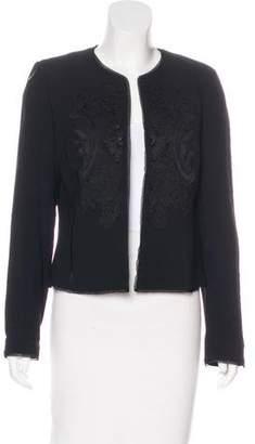 Ellen Tracy Linda Allard Lace-Accented Tailored Jacket