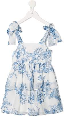 Oscar de la Renta Kids floral flared dress