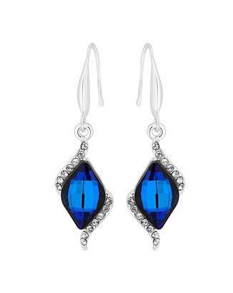 Jon Richard Swarovski  Bermuda Blue Silver Earring