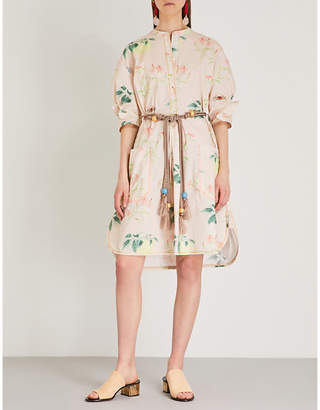 Peter Pilotto Floral-print cotton shirt dress