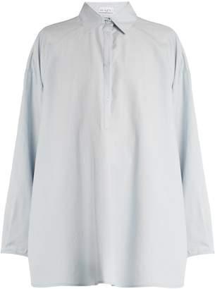 Raey Split-side cotton and silk-blend shirt