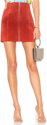 Blank NYC BLANKNYC Zipper Suede Mini Skirt