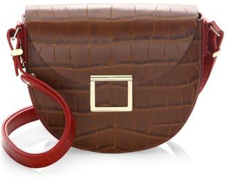 Jason Wu Collection Jaime Croc-Embossed Leather Saddle Bag