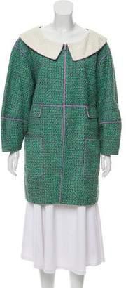 Chanel Tweed Zip-Up Coat