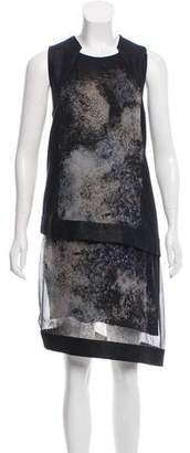 Helmut Lang Asymmetrical Colorblock Dress