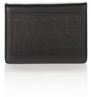 Alexander Wang E W CROC EMBOSSED CARDHOLDER IN BLACK SMALL LEATHER GOOD