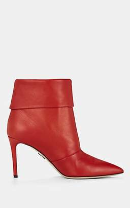 Paul Andrew Women's Banner Leather Ankle Boots - Red