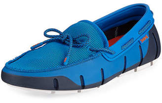 Swims Mesh & Rubber Braided-Lace Boat Shoe