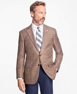 Brooks Brothers Madison Fit Saxxon Wool Plaid with Windowpane Sport Coat