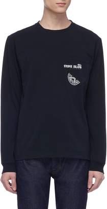 Stone Island Logo print patch pocket long sleeve T-shirt