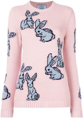 Prada rabbit intarsia knit jumper