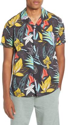 Hurley Domino Short Sleeve Button-Up Camp Shirt