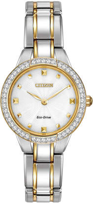 Citizen 26mm Crystal Eco-Drive Bracelet Watch, Two-Tone