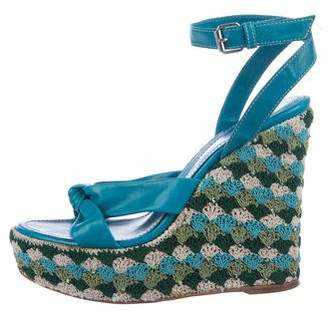 Sergio Rossi Platform Woven Wedges