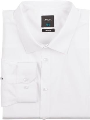 Mens Big &Tall White Slim Fit Essential Shirt