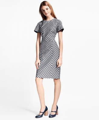 Brooks Brothers Gingham Double-Weave Sheath Dress