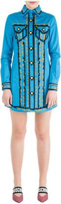 Moschino Short Mini Dress Long Sleeve Pixel Capsule