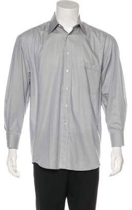 Canali Woven Button-Up Shirt