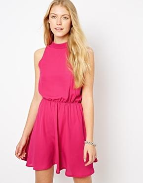 Love High Neck Dress - Pink