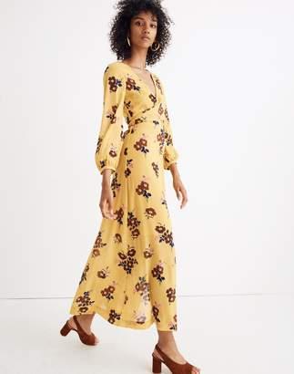 Madewell Wrap-Around Maxi Dress in Retro Bouquet