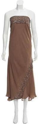 Haute Hippie Strapless Beaded Dress