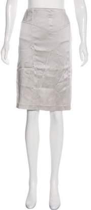 Blumarine Satin Knee-Length Skirt
