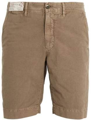 Incotex - Mid Rise Regular Fit Chino Shorts - Mens - Brown