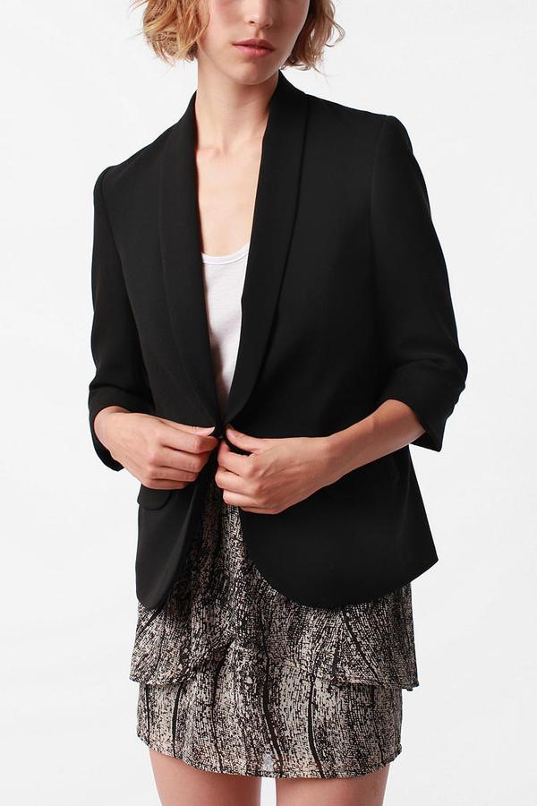 Sparkle & Fade Shawl Collar Blazer