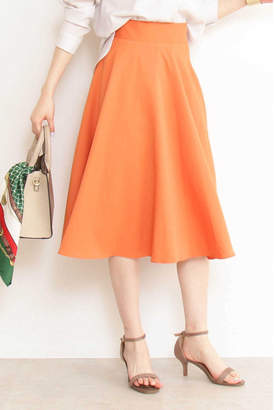 Natural Beauty (ナチュラル ビューティー) - T/Rフレアミモレスカート オレンジ