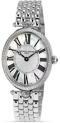 Frederique Constant Art Deco Oval Stainless Steel Watch, 30 x 25mm